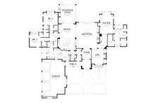 European Floor Plan - Main Floor Plan Plan #48-878