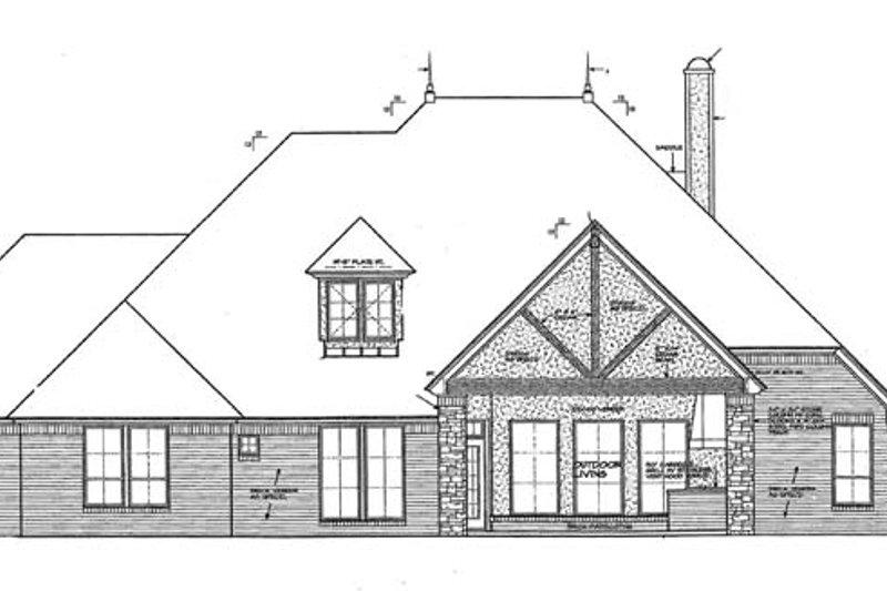 European Exterior - Rear Elevation Plan #310-1268 - Houseplans.com