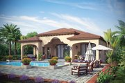 Mediterranean Style House Plan - 3 Beds 3.5 Baths 3433 Sq/Ft Plan #930-444 Exterior - Rear Elevation