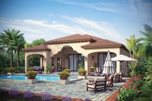 Mediterranean Exterior - Rear Elevation Plan #930-444