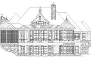 European Style House Plan - 3 Beds 3.5 Baths 3874 Sq/Ft Plan #929-929 Exterior - Rear Elevation