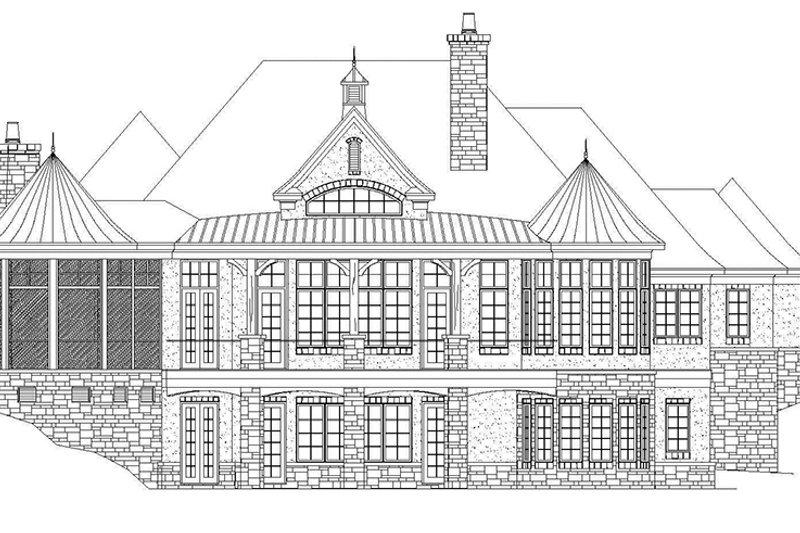 European Exterior - Rear Elevation Plan #929-929 - Houseplans.com