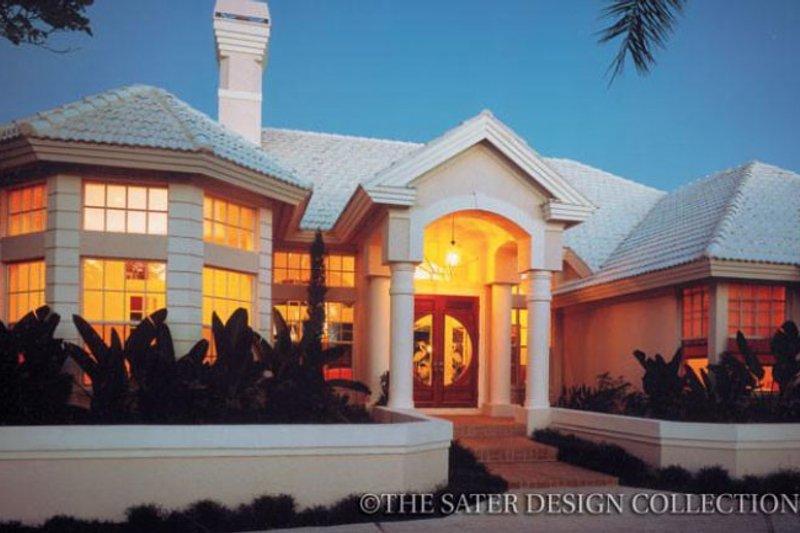 Dream House Plan - Mediterranean Exterior - Front Elevation Plan #930-44