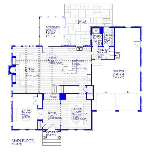 Traditional Floor Plan - Main Floor Plan Plan #901-142