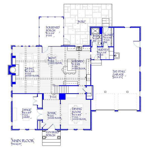 Traditional Floor Plan - Main Floor Plan Plan #901-142