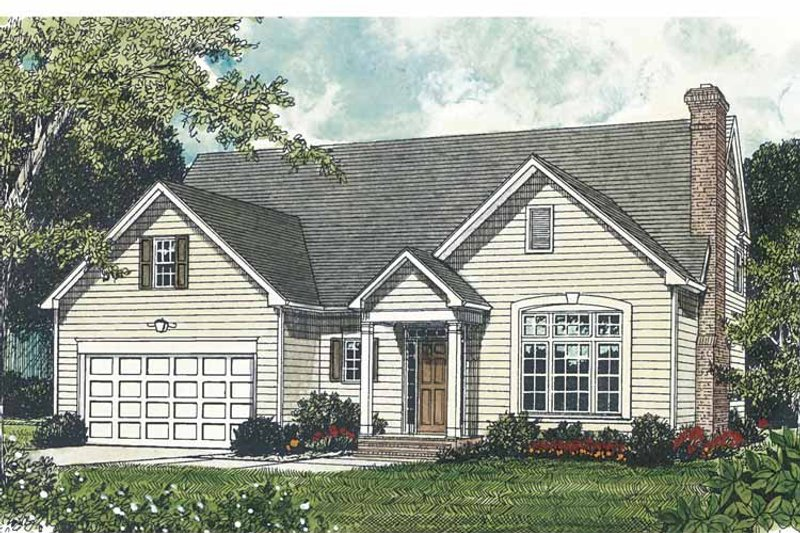 Traditional Exterior - Front Elevation Plan #453-494 - Houseplans.com