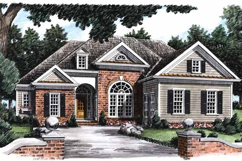 House Plan Design - Traditional Exterior - Front Elevation Plan #927-668