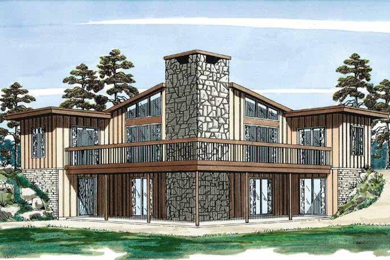 House Plan Design - Contemporary Exterior - Front Elevation Plan #47-666