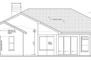 Craftsman Style House Plan - 4 Beds 3 Baths 2448 Sq/Ft Plan #1058-47 Exterior - Rear Elevation