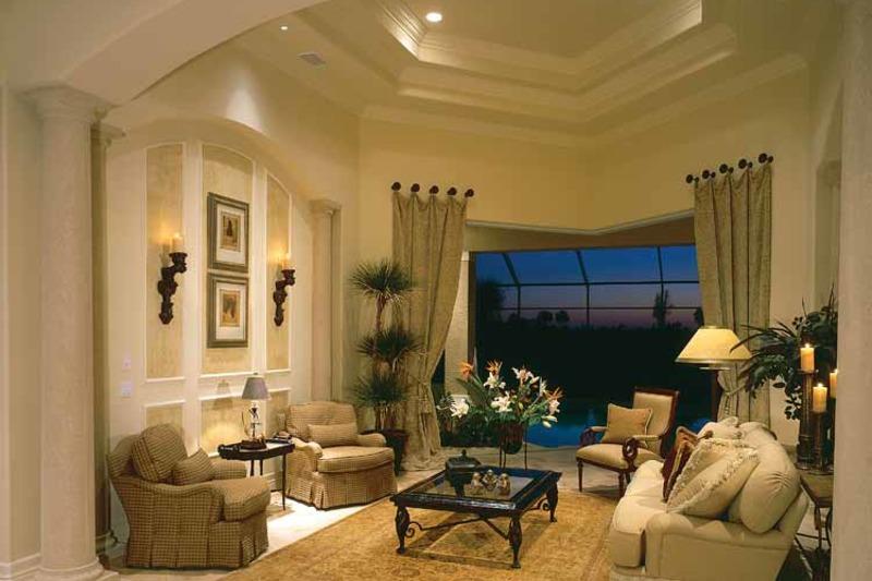 Mediterranean Interior - Family Room Plan #930-188 - Houseplans.com