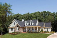Country Exterior - Front Elevation Plan #929-425