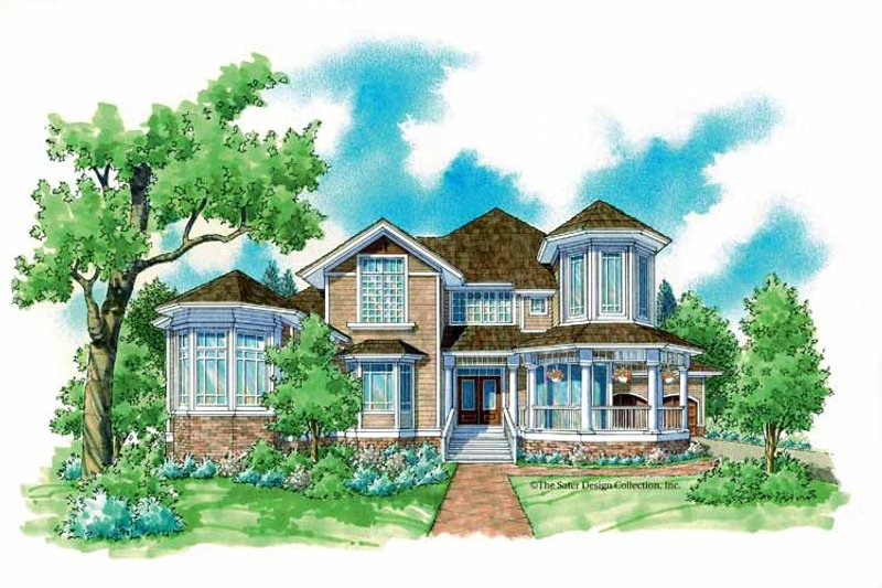 Victorian Exterior - Front Elevation Plan #930-236