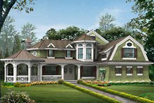 Craftsman Exterior - Front Elevation Plan #132-458