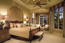 Architectural House Design - Mediterranean Interior - Master Bedroom Plan #930-398