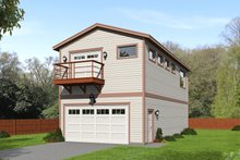 House Blueprint - Craftsman Exterior - Front Elevation Plan #932-376
