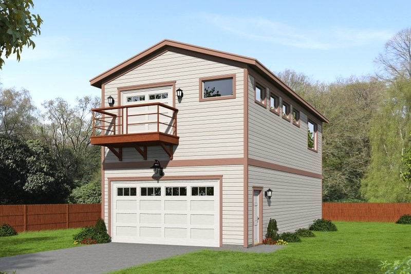 Craftsman Style House Plan - 0 Beds 1 Baths 2032 Sq/Ft Plan #932-376 Exterior - Front Elevation