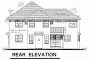 European Style House Plan - 5 Beds 2.5 Baths 2374 Sq/Ft Plan #18-9434 Exterior - Rear Elevation
