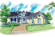 Architectural House Design - Country Exterior - Front Elevation Plan #930-176