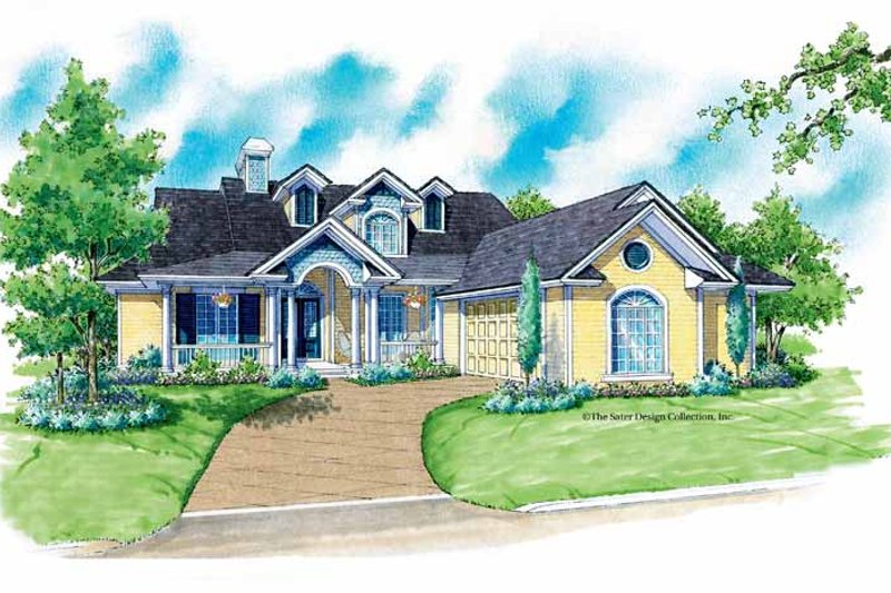 Country Exterior - Front Elevation Plan #930-176