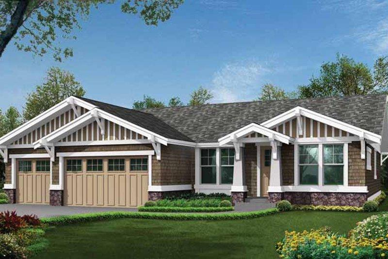 Dream House Plan - Craftsman Exterior - Front Elevation Plan #132-538
