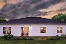 Country Exterior - Rear Elevation Plan #930-364