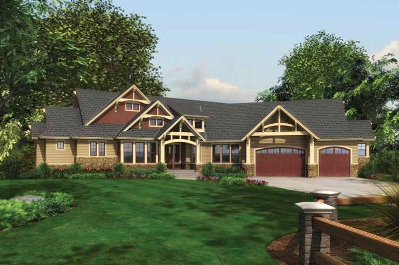 Craftsman style house plan 3 beds 2 5 baths 3135 sq ft for Breland homes floor plans