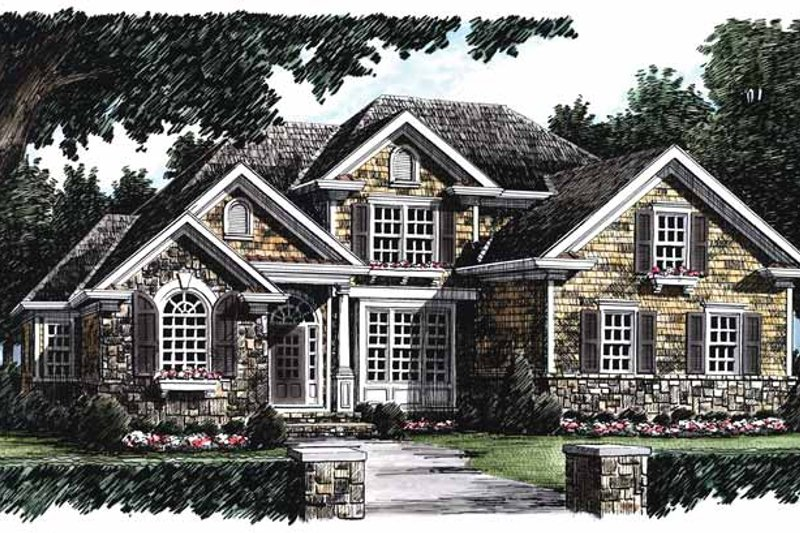 Architectural House Design - Country Exterior - Front Elevation Plan #927-623