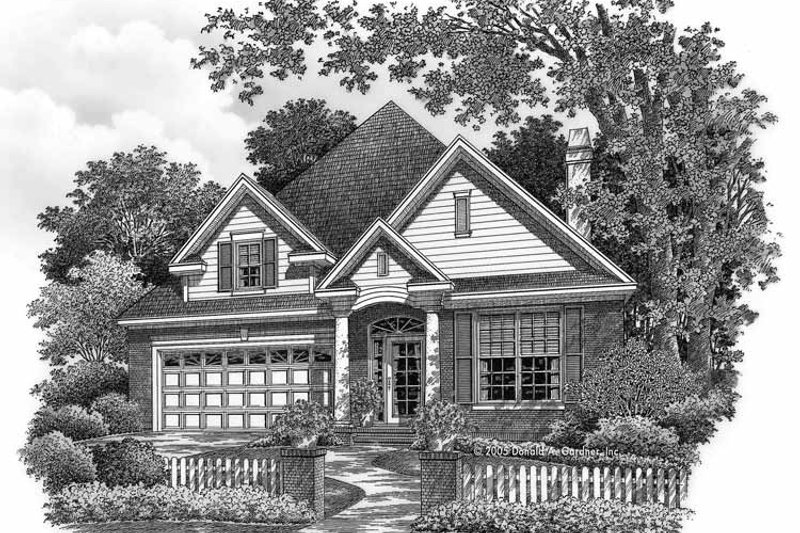 Architectural House Design - Country Exterior - Front Elevation Plan #929-760