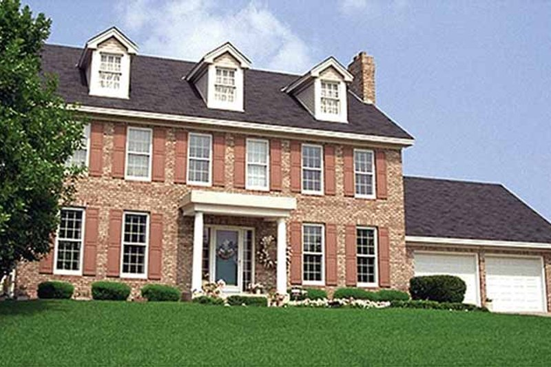 Classical Exterior - Front Elevation Plan #51-873