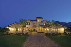 House Plan Design - Mediterranean Exterior - Front Elevation Plan #1039-1
