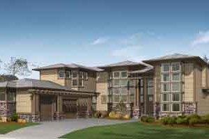 Prairie Exterior - Front Elevation Plan #132-167