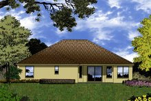 House Plan Design - Mediterranean Exterior - Rear Elevation Plan #1015-16