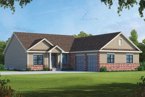 Traditional Exterior - Front Elevation Plan #20-2404