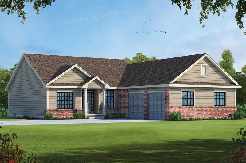 Architectural House Design - Traditional Exterior - Front Elevation Plan #20-2404