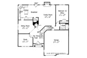 Traditional Style House Plan - 5 Beds 3 Baths 2681 Sq/Ft Plan #927-13 Floor Plan - Main Floor