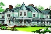 Victorian Style House Plan - 5 Beds 6 Baths 4826 Sq/Ft Plan #72-196 Exterior - Other Elevation