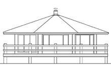 Dream House Plan - Modern Exterior - Rear Elevation Plan #60-104