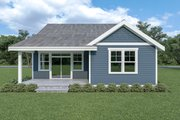Craftsman Style House Plan - 3 Beds 2 Baths 1561 Sq/Ft Plan #1070-79 Exterior - Rear Elevation
