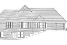 Architectural House Design - Traditional Exterior - Rear Elevation Plan #46-412