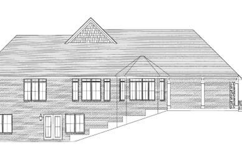 Traditional Exterior - Rear Elevation Plan #46-412 - Houseplans.com