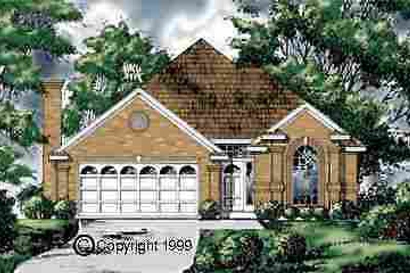 European Exterior - Front Elevation Plan #40-145