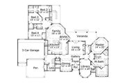 European Style House Plan - 4 Beds 3.5 Baths 3710 Sq/Ft Plan #411-749 Floor Plan - Main Floor