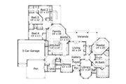 European Style House Plan - 4 Beds 3.5 Baths 3710 Sq/Ft Plan #411-749 Floor Plan - Main Floor