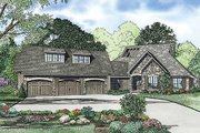 Traditional Style House Plan - 4 Beds 3.5 Baths 2716 Sq/Ft Plan #17-2385 Exterior - Front Elevation