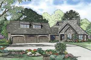 Traditional Exterior - Front Elevation Plan #17-2385