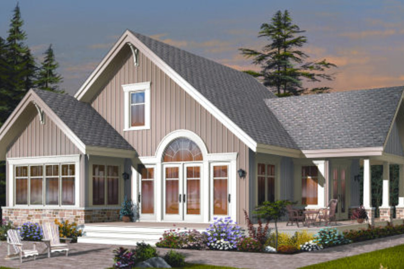 Cottage Exterior - Front Elevation Plan #23-2266
