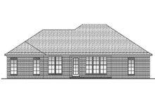 Home Plan Design - European Exterior - Rear Elevation Plan #430-55