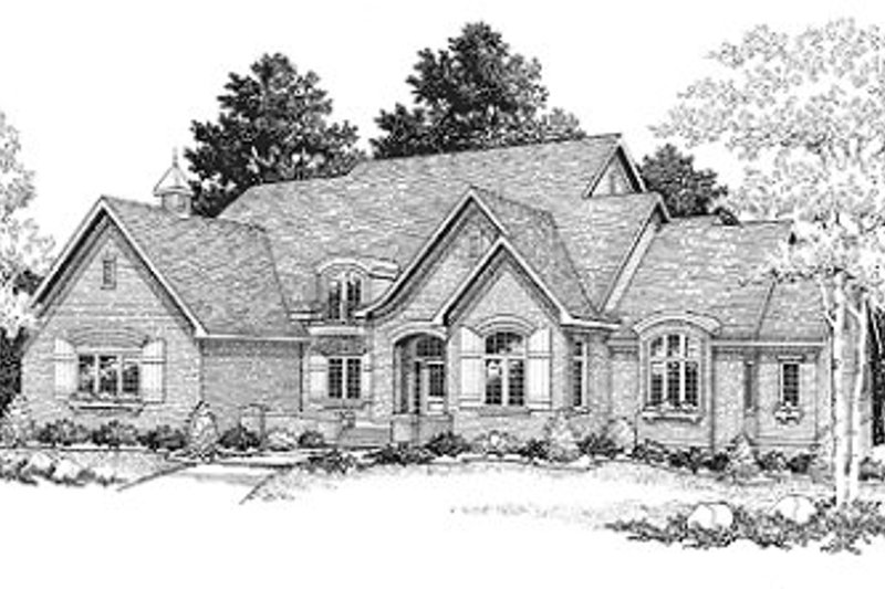 European Exterior - Front Elevation Plan #70-518
