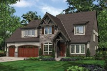 Dream House Plan - Craftsman Exterior - Front Elevation Plan #48-632