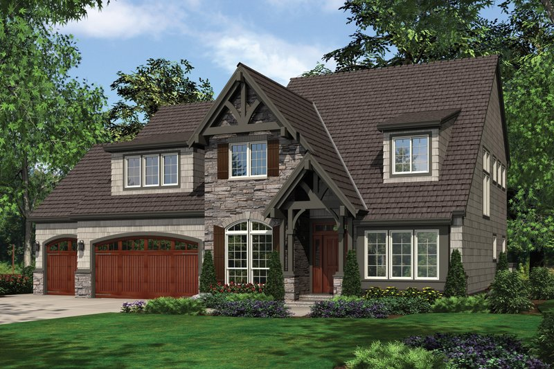 Craftsman Exterior - Front Elevation Plan #48-632